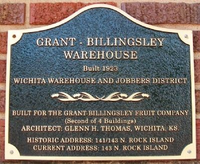 Grant-Billingsley Warehouse Marker image. Click for full size.
