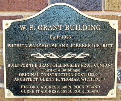 W. S. Grant Building Marker image. Click for full size.