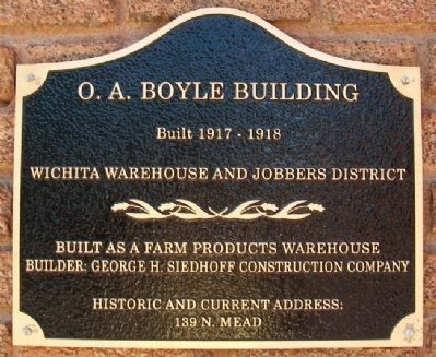 O. A. Boyle Building Marker image. Click for full size.