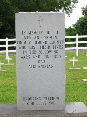 Richmond County Iraq & Afghanistan War Memorial Marker image. Click for full size.