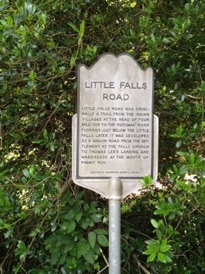 Little Falls Road Marker image. Click for full size.