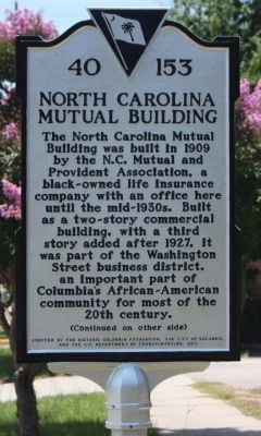 North Carolina Mutual Building Marker image. Click for full size.