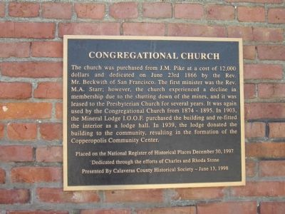 Congregational Church Marker image. Click for full size.