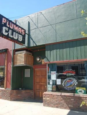 Plumas Club and Marker image. Click for full size.