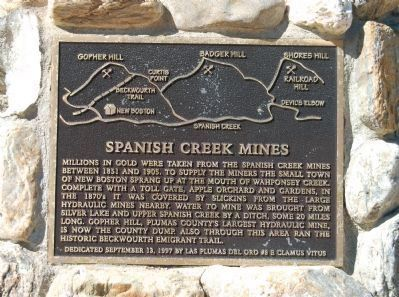 Spanish Creek Mines Marker image. Click for full size.