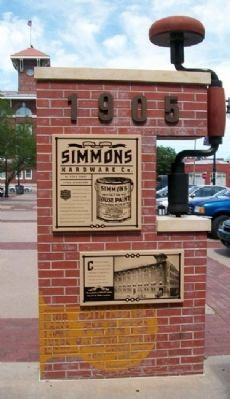 Simmons Hardware Company Marker image. Click for full size.