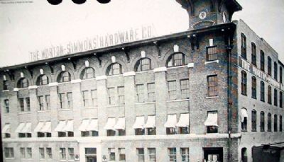 Photo of Simmons Hardware Company on Marker image. Click for full size.