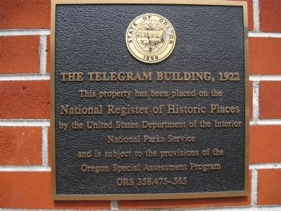 The Telegram Building, 1922 Marker image. Click for full size.