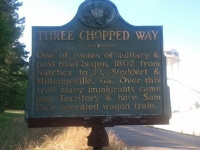 Three Chopped Way Marker image. Click for full size.