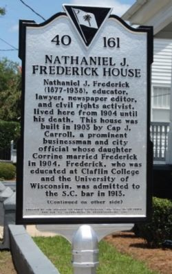 Nathaniel J. Frederick House Marker image. Click for full size.