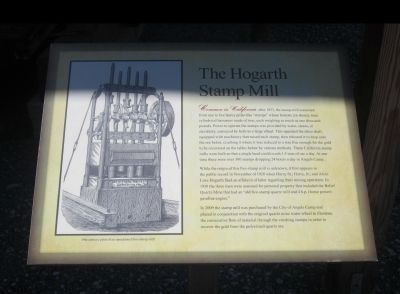 The Hogarth Stamp Mill Marker image. Click for full size.