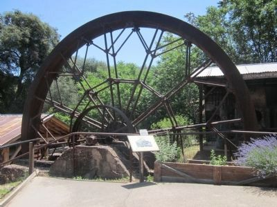 The Water Wheel and Marker image. Click for full size.