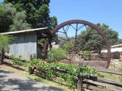 Rear View of the Water Wheel image. Click for full size.