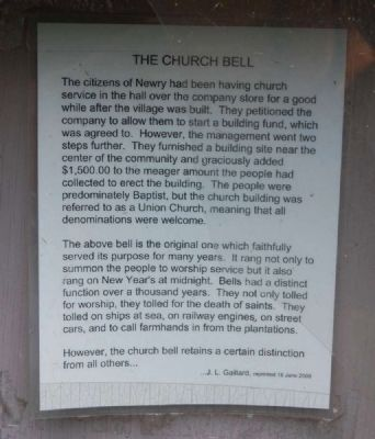 The Church Bell Marker image. Click for full size.