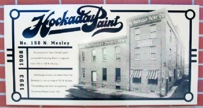 Hockaday Paint Company Marker image. Click for full size.