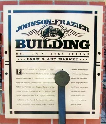Johnson-Frazier Building Marker image. Click for full size.