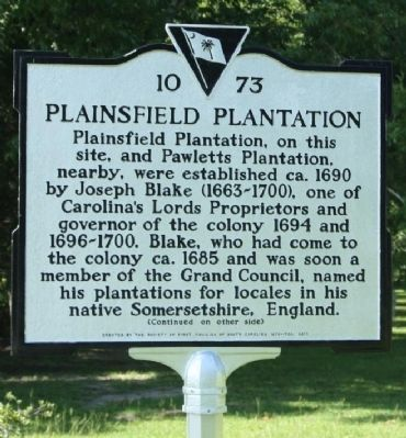 Plainsfield Plantation Marker image. Click for full size.