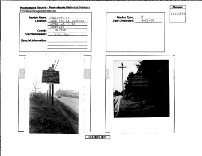 Legionville Marker Maintenance Sheets image. Click for full size.