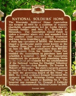 National Soldiers Home Marker image. Click for full size.