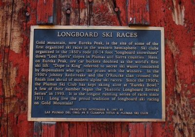Longboard Ski Races Marker image. Click for full size.