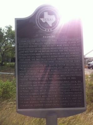 Town of Fashing Marker image. Click for full size.