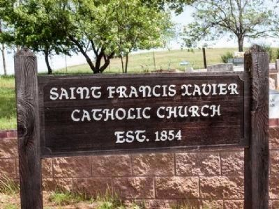 Saint Francis Xavier Catholic Church Sign image. Click for full size.