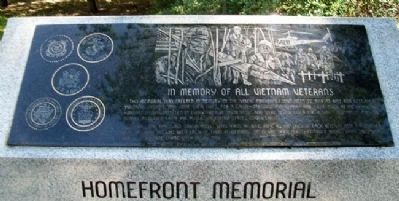 Vietnam War and Homefront Memorial Marker image. Click for full size.