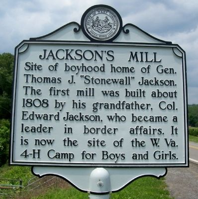 Jackson's Mill Marker image. Click for full size.