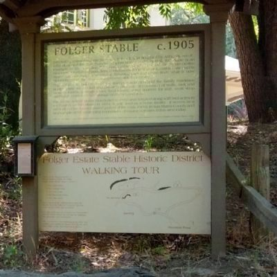 Folger Stable c.1905 Marker and Walking Tour Map image. Click for full size.