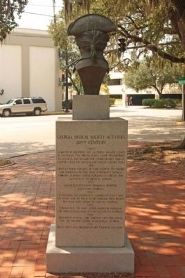Dr. Noble Wimberly Jones Marker, east side image. Click for full size.