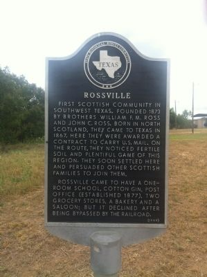 Rossville Marker image. Click for full size.