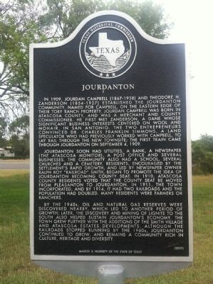 Jourdanton Marker image. Click for full size.