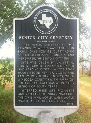 Benton City Cemetery Marker image. Click for full size.