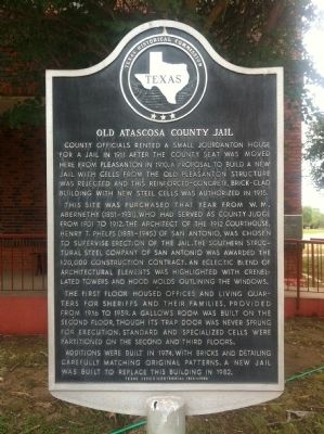 Old Atascosa County Jail Marker image. Click for full size.