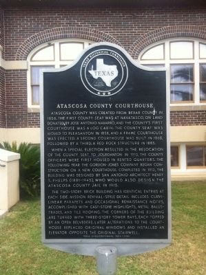 Atascosa County Courthouse Marker image. Click for full size.