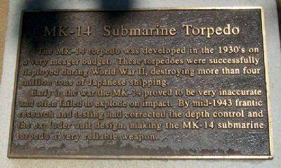 MK-14 Submarine Torpedo Marker image. Click for full size.
