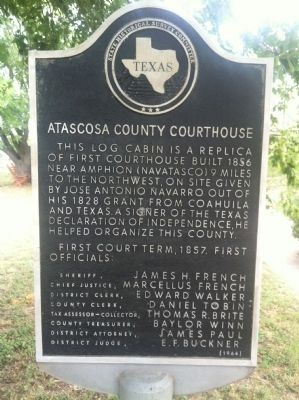 Atascosa County Courthouse Replication of First Marker image. Click for full size.