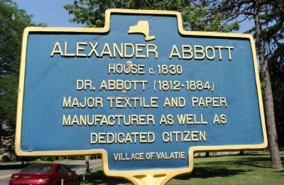 Alexander Abbott House Marker image. Click for full size.