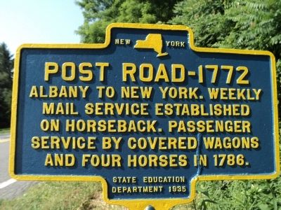 Post Road - 1772 Marker image. Click for full size.