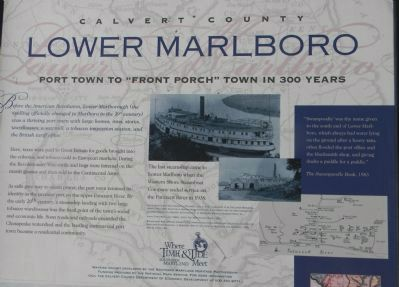 Lower Marlboro Marker - close-up of the upper portion image. Click for full size.