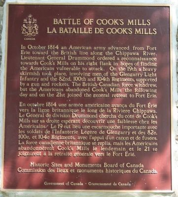 Battle of Cook's Mill Marker image. Click for full size.