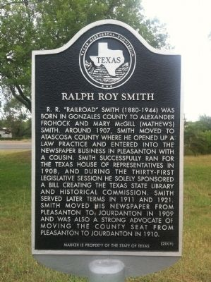 Ralph Roy Smith Marker image. Click for full size.