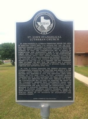 St. John Evangelical Lutheran Church Marker image. Click for full size.