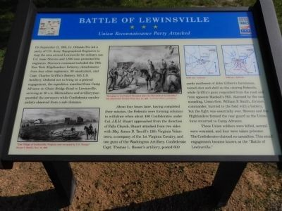 Battle of Lewinsville marker image. Click for full size.