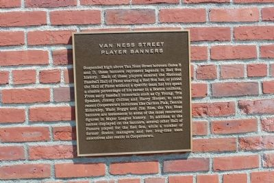 Van Ness Street Player Banners Marker image. Click for full size.