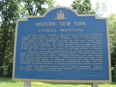 Catskill Mountains Marker image. Click for full size.