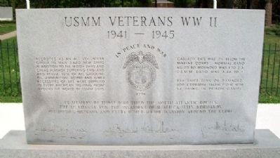 USMM Veterans of World War II Memorial (Side A) image. Click for full size.