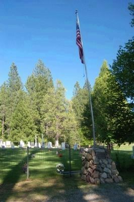 Meadow Valley Cemetery, Marker and Flagpole. image. Click for full size.