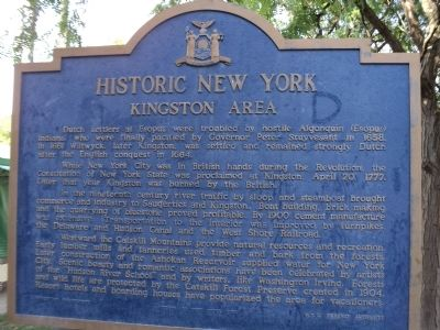 Kingston Area Marker image. Click for full size.