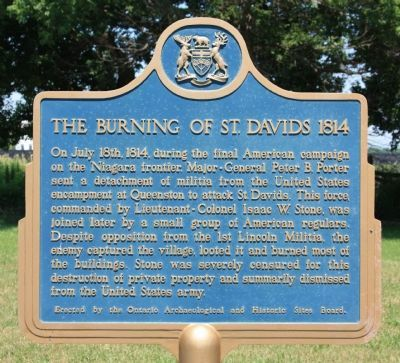 The Burning of St. Davids 1814 Marker image. Click for full size.